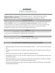 Sap Sd Resume 2 Exp Sap Se Sales