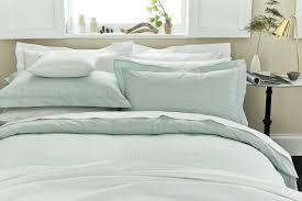duck egg blue gingham check bedding