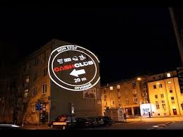 large scale outdoor projection on the