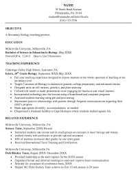 Sample Resume For Botany Lecturer Best of Biology Resume 24 Teacher Sample Resumes Design