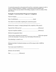 Contract Bid Proposal 31 Construction Proposal Template Construction Bid Forms