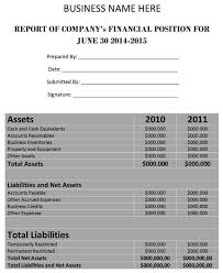 finance report templates financial report template word