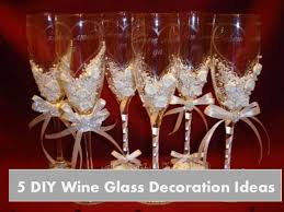 Wine Glass Decorating Designs DIY wine glass decoration ideas 61