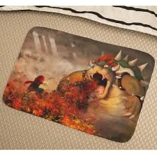 image is loading super mario bros bowser soft absorbent foam non