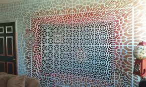 geometric wall paintHand painted geometric wall in Denver CO  pics