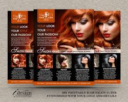 Hair Salon Flyer Templates Hair Salon Flyer Printable Hair Stylist Or Hairdresser Flyers