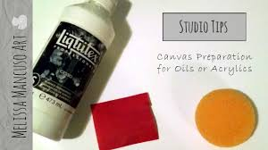 preparing a smooth canvas for painting oil or acrylic