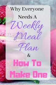 Weekly Meal Planning For One Weekly Meal Planning Made Simple Life Design By Cynthia