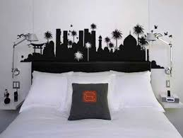 bathroomastonishing charming bedrooms asian influence home. Enhancing Your Bedroom Look Easily With Amazing Headboards Ideas : Wall Sticker Headboard Black And White Middle East City Vinyl Bathroomastonishing Charming Bedrooms Asian Influence Home