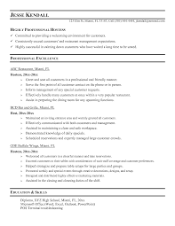 Hostess Resume Skills Hostess Resume Zocdbs Jesse Kendall Host