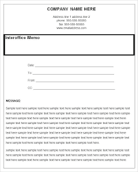 Inter Office Memo Format Interoffice Memo Samples Inter Office Memo Template Example