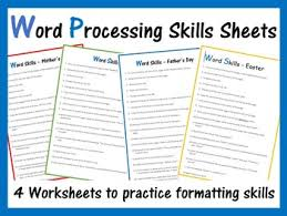 Microsoft Word Exercise Worksheets By Computer Creations Tpt