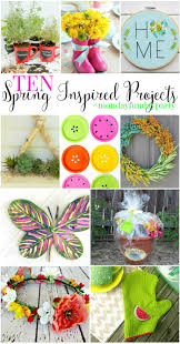 10 spring inspired diy project ideas mondayfundayparty
