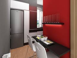 Modern Small Apartment Dining Room Design With Floating Espresso