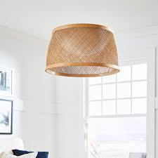stone beam modern coastal raffia chandelier with led board 5