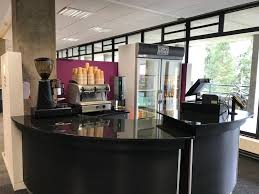 coffee station furniture. Image May Contain: Table, Reception Desk, Reception, Furniture Coffee Station O