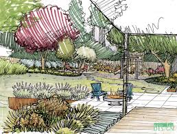 How To Draw Up A Landscape Design Garden Creation How To Draw A Perspective Sketch