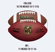 College Football Size Chart When Football Players Go Pro Their Balls Get Bigger Ozy