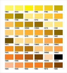 Yellow Cmyk Color Chart Free 8 Sample Cmyk Color Chart Templates In Pdf