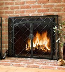 2-Door Celtic Knot Flat Fireplace Screen, 44