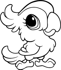 Cute Parrot Drawing At Getdrawingscom Free For Personal Use Cute