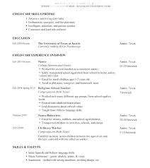 Resume For Nanny Nanny Resume Example Download Nanny Resume Examples Interesting Nanny Resume Skills