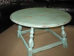 distressed white and blue coffee table tables diy small round