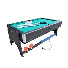 China Foldable 4 in 1 multi game table(pool table+dinnin from
