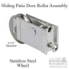 extruded sliding glass door roller assembly stainless steel roller