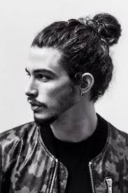 22long curls man bun