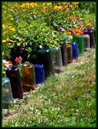 garden medium size upcycle glass bottles into a garden border the greenbacks gal upcycled amc