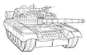 Tank Coloring Page Coloring Page Tank Transportation Printable
