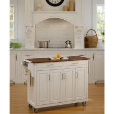 home styles create a cart white kitchen cart with towel bar
