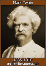 mark twain biography and works search texts online discuss  theme of luck