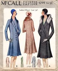 Coat Sewing Patterns Classy 48s Sewing Pattern Reproduction Winter Coat Fur Collar 48 Lady