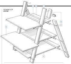standing desk plans picture full size