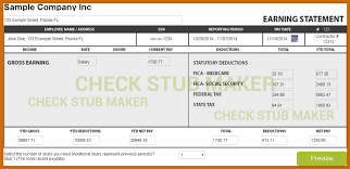 Pay Stub Samples Templates Free Check Stub Template Printables The Art Gallery With Free Check