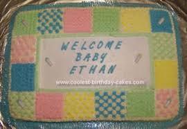Cool Homemade Baby Shower Quilt Cake & Homemade Baby Shower Quilt Cake Adamdwight.com