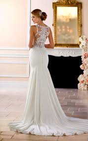 style 6404 high neck fitted wedding dress by stella york bridal