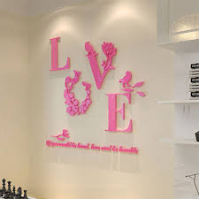 3d love heart wall art