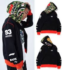 Details About A Bathing Ape Mens X Formula 1 Collection F1 Bape Shark Full Zip Hoodie New