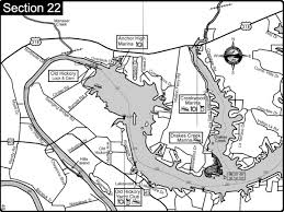 Cumberland River Charts Old Hickory Lake Cumberland River Map Nashville Tn Mappery