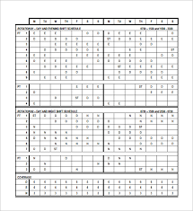 Rotating Overtime Schedule Template Monthly Work Rotation Rotating