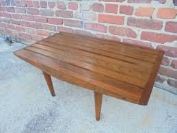 Slatted Coffee Table Vintage Mid Century Modern Slat Bench Coffee Table George Nelson