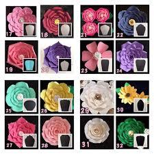 Cardstock Paper Flower Hardcopy Paper Flower Templates Diy Paper Flowers Price Is For