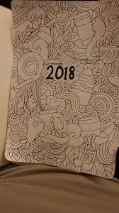Creative Title Page My 2018 Title Page Traced From A Colouring Book Im Not That