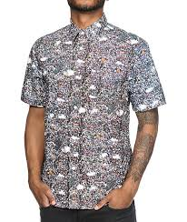 Patterned Button Up Shirts Inspiration The Hundreds Zapis Printed Button Up Shirt Zumiez