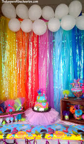 Trolls Birthday Party Ideas | DIY | Pinterest | Plastic table cloths,  Plastic tables and Trolls birthday party