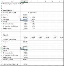 Personal Finance Model Build A Personal Finance Spreadsheet Model Spreadsheetsolving