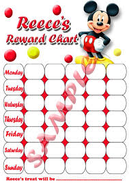 8 Best Images Of Mickey Mouse Reward Chart Printable